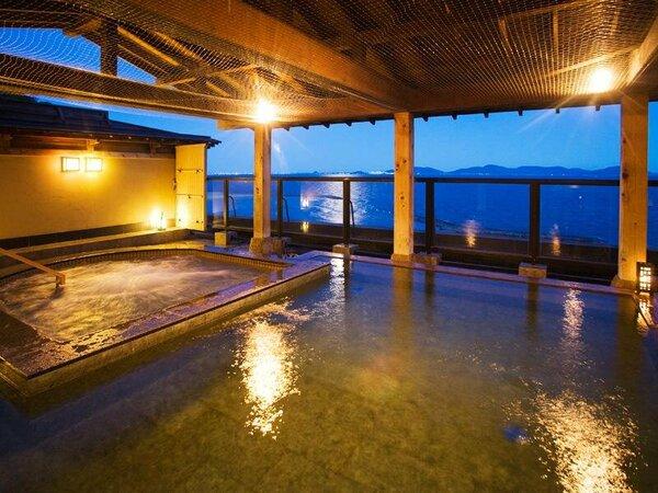 ■光彩乃湯-露天風呂-■三河湾を眺めながら、ゆっくりと湯の贅をお楽しみ下さい