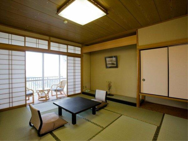 ◆【和室10畳】(バス付)海が見えるお部屋。バス・洗浄機付きトイレ付。