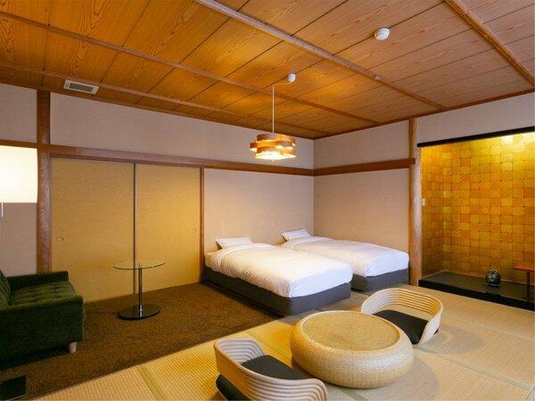 和洋室standard twin/全2部屋です。お好きなタイプがございましたらお気軽にどうぞ!