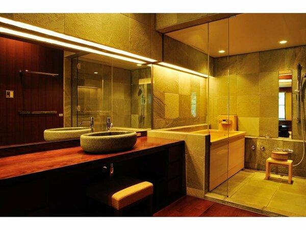 サイプレススイート内風呂温泉付き客室