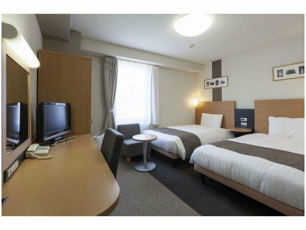 【ツインエコノミー】広さ19平米/ベッド幅123cm×2台