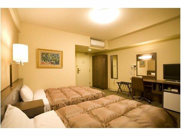 【ツインルーム】全室無料Wi-Fi&加湿機能付空気清浄器完備