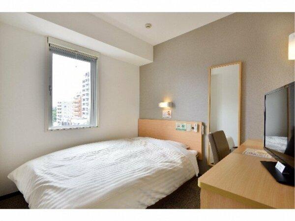 シングルルーム:全室150cm幅のワイドベッドでゆったりぐっすり♪