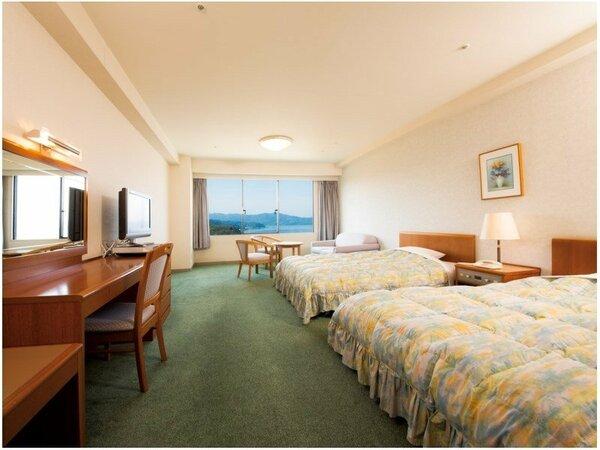 洋室ツインルーム一例。広々とした36平米のお部屋です。