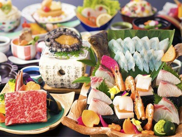 【個室食‐グレードUP会席】新鮮さ際立つ「二大饗宴」お祝いにも喜ばれる、華やかな逸品をお届けします