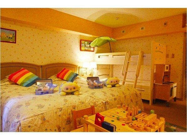リゾッ太コネクティング(キッズ):2段ベッドが入ったお子様仕様のお部屋にはキッズアメニティーも充実