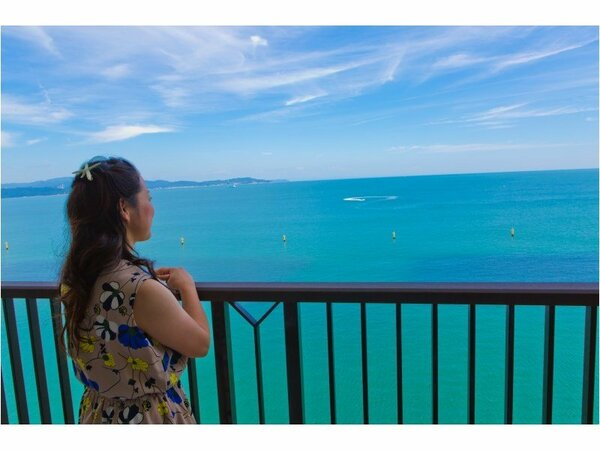 客室バルコニーからお楽しみ頂けるオーシャンビューの眺望
