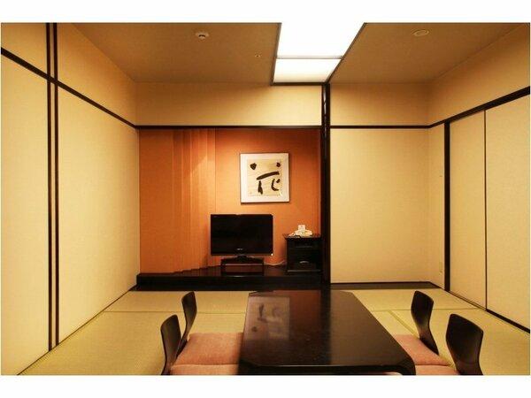 和室セミスイート:10畳と6畳の2間の客室でごゆっくりお過ごしください