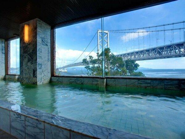 鳴門海峡にかかる大鳴門橋を眺めながら、解放感たっぷりの大浴場で、心も体もリフレッシュ!!