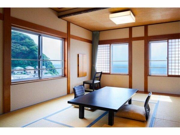 【本館】最上階・槇の内風呂付き和室10畳(海側)