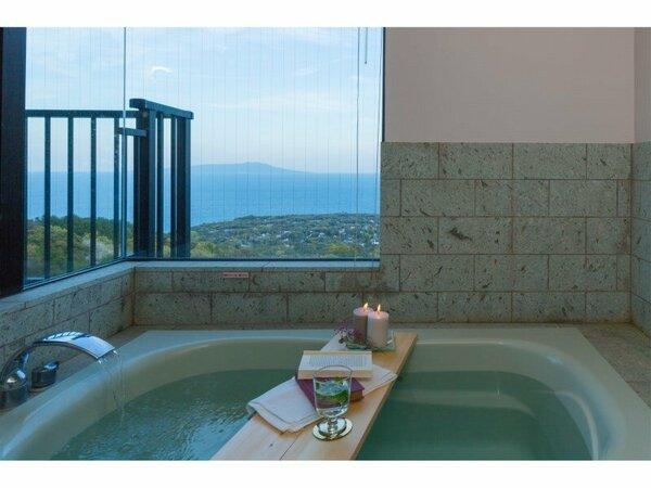 海の見える温泉風呂