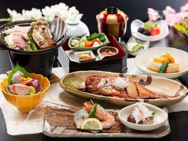 【金目鯛煮つけ付会席】スタンダードプランに金目鯛がついた会席 ※2019春料理イメージ