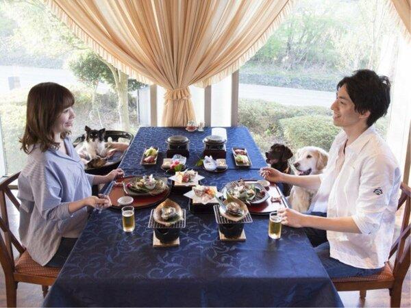 【レストラン】食事も旅の楽しみのひとつ!愛犬とご一緒にどうぞ。
