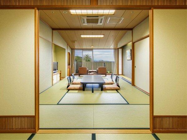 【センターウイング館 和室44平米】箱庭付きの広々純和室でのんびりゴロ~リ。