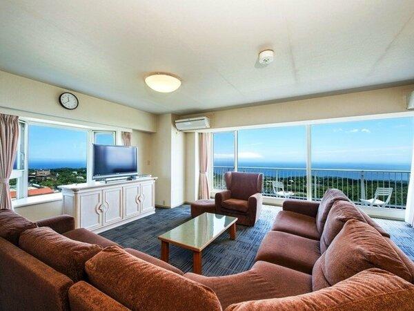最上階グレードアップスイート3LDK…最上階から望む眺望をお楽しみ下さい。