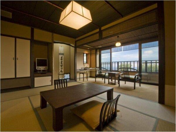 雪タイプのお部屋(1階)日本情緒あふれるお部屋でのんびりとお寛ぐ頂けます。