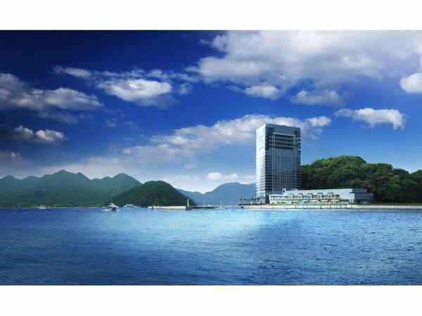 空と海に囲まれたアーバンリゾートホテル。