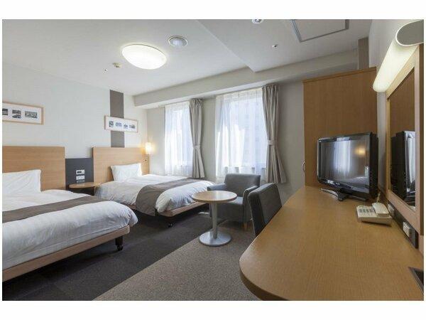 【ツインスタンダード】広さ21平米-23平米/ベッド幅123cm×2台