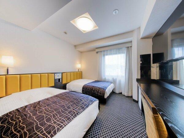 ツインルーム(広さ15/ベッド幅110cm×2台)