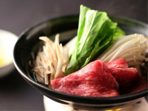 長野県産牛をすき焼きで堪能