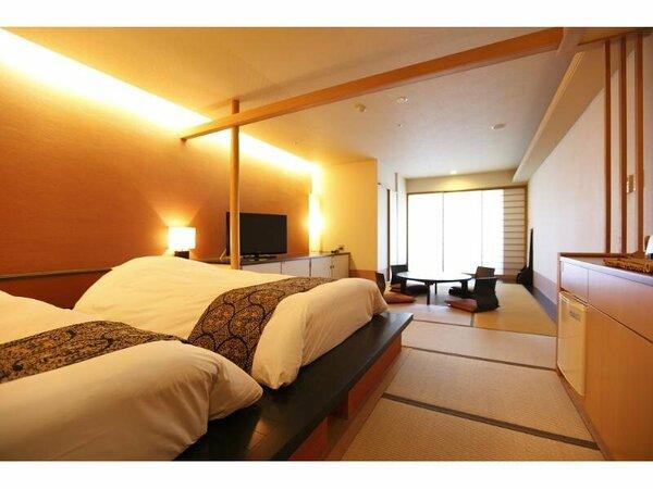 【客室】和のおもてなしの広々快適な寛ぎの客室(和洋室45平米)