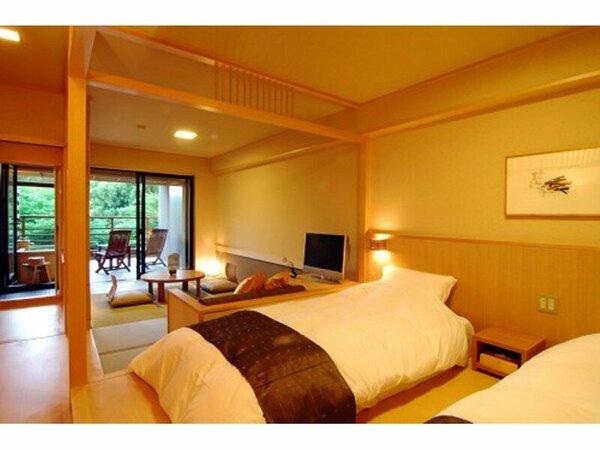 【新館・水花の庄】露天風呂付 和洋室35平米