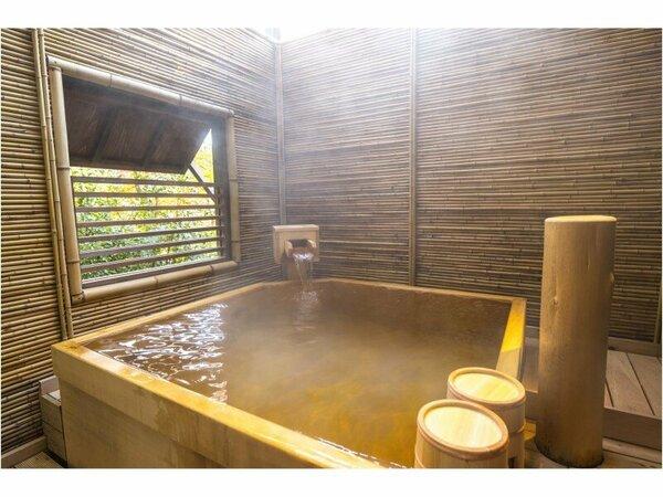 岩・陶器・檜の3種の趣異なる天然温泉貸切風呂は、空きがあれば何度でも無料でご利用頂けます。