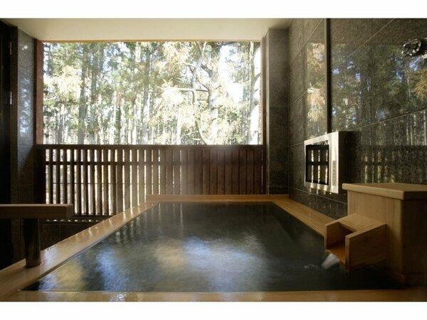 【コンフォートスイートメゾネット/ツイン】客室露天風呂の一例