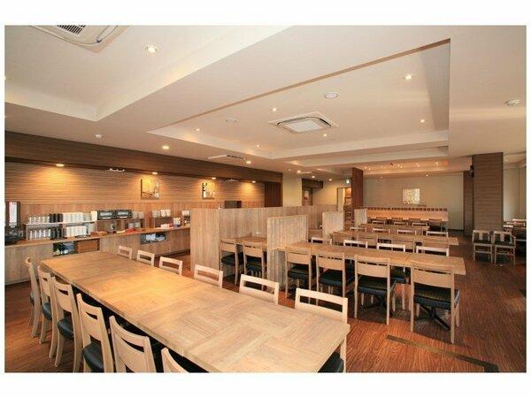 朝・夕食レストラン「花茶屋」ご宿泊のお客様には和洋の朝食バイキング無料サービスです♪
