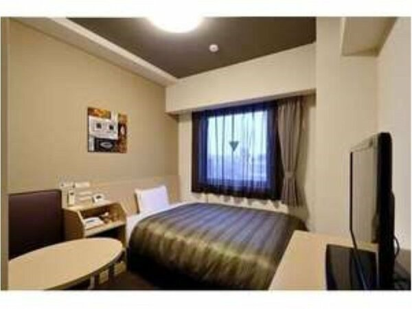 シングルルーム◆ベットサイズ120cm×195cm、全室加湿機能付き空気清浄機完備