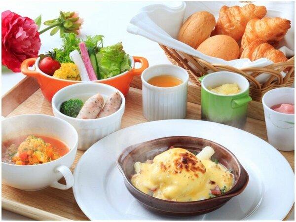 【朝食】信州の食材をふんだんに使ったこだわりの朝食