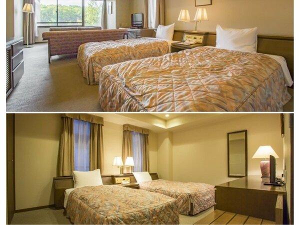 【お部屋一例】4ベッドルームスイートは81平米の寛ぎの広さ 窓の外には北軽井沢の大自然を一望できます