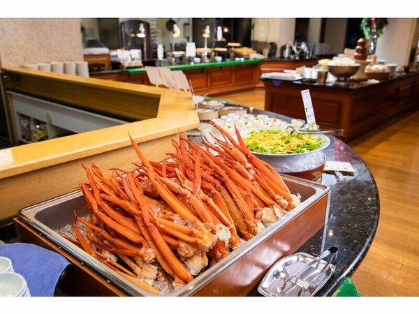 料理の一例(イメージ)夕食バイキング・カニ