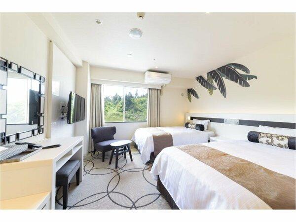 マウンテンビューのツインベッドルームはコンパクトながらも機能的で快適なお部屋。
