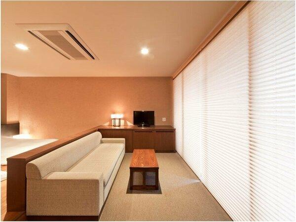 【◆風の舘】温泉露天風呂+テラス付 デラックスツインルーム(禁煙)