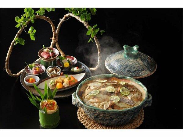 九州の豊かな食材を堪能する季節の会席です。