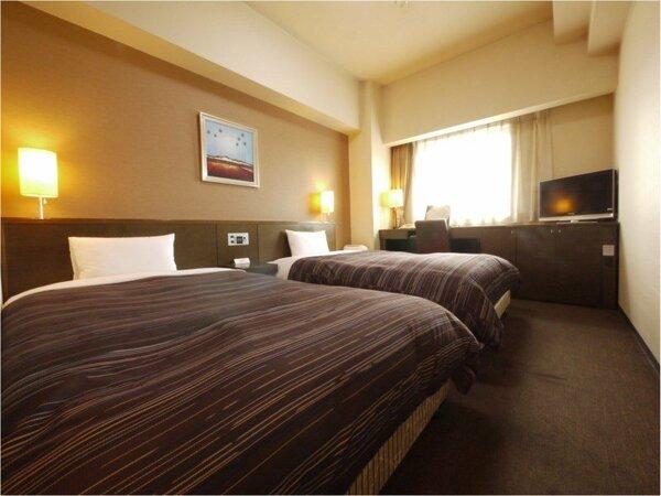 【ツインルーム】ベッドサイズ120×196(cm) 全室無料Wi-Fi&加湿機能付空気清浄器完備