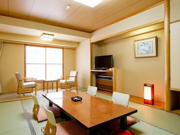 【和室10畳】清潔なお部屋です。(標準客室例)