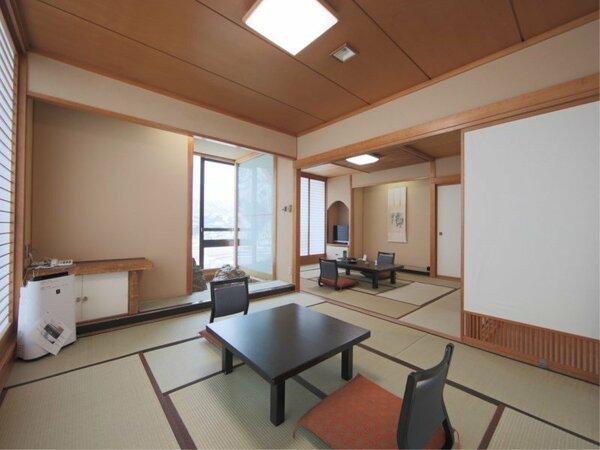 【禁煙☆和室二間(角部屋)】和室12.5畳+次の間10畳。1室限定、角部屋タイプの禁煙二間客室です。