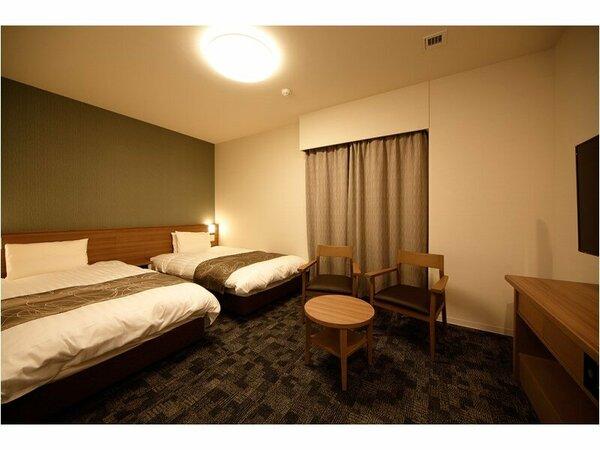 ◆ツインルーム【広さ23・ベッドサイズ110cm×195cm×2台】