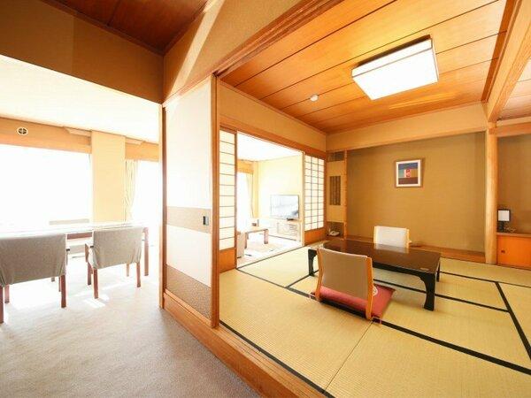 本館【8畳+リビング付】 8畳の和室にリビングルームを備えたお部屋です。