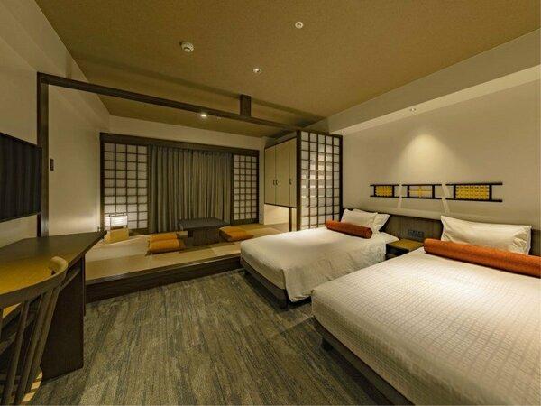 *【ツイン和洋室(イメージ)】最大4名までお泊りいただける和洋室のお部屋。
