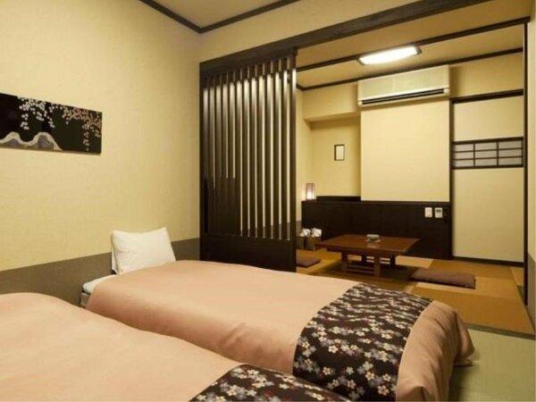 【和洋室】シングルベッド2台+くつろぎ空間(29.8平米)