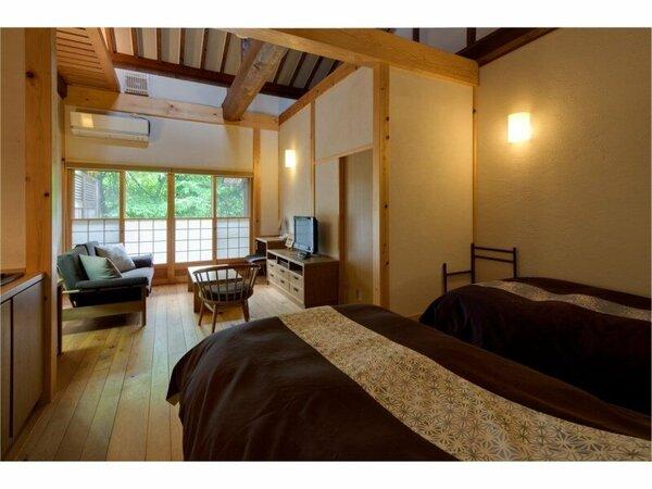 【客室一例】露天風呂付客室の洋室一例
