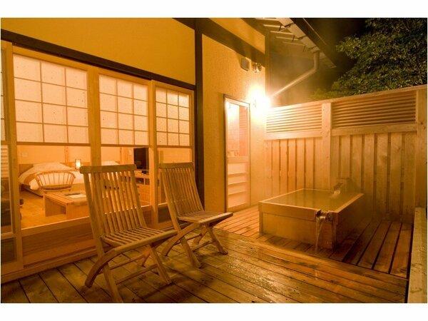 姫子松 客室露天風呂
