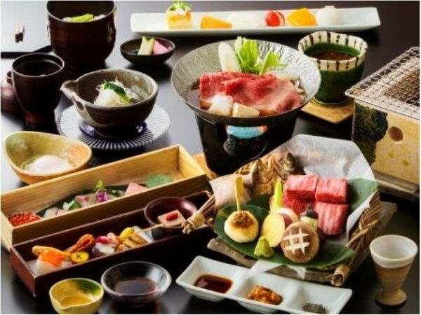 【A】飛騨牛いろり会席(基本料理)