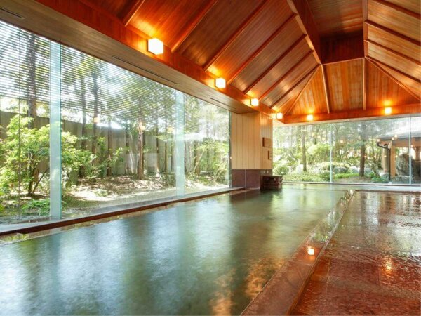 【温泉】本陣大浴殿内湯 熱いお湯が苦手の方にはぬるめの浴槽がお勧め