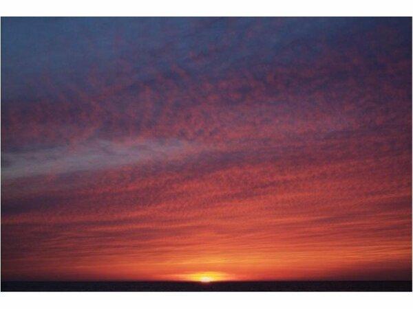 絶景「千里浜海岸夕日」