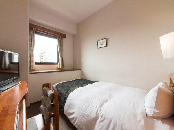 【シングルルーム】ベッド120cm幅×1台 ビジネス利用にピッタリです。