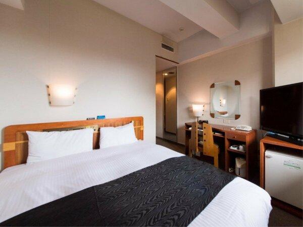 【ダブルルーム】ベッド160cm×1台 カップルのお客様にオススメです。